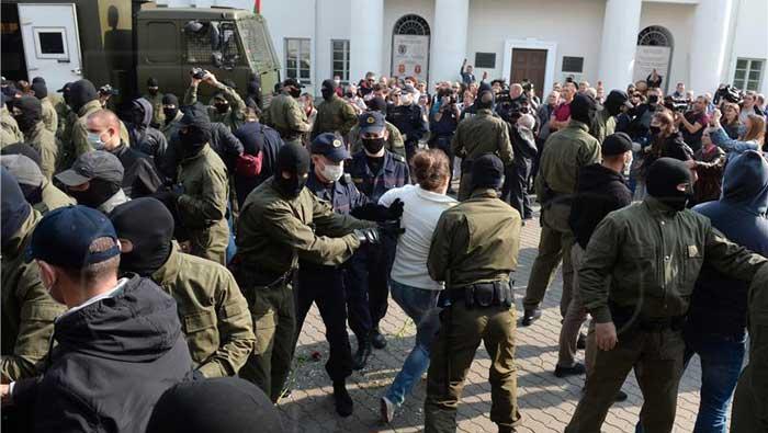 Bjelorsuke snage počele privoditi prosvjednike u Minsku