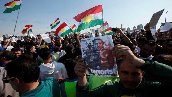 Tisuće Kurda u Iraku prosvjeduju protiv turske operacije u Siriji