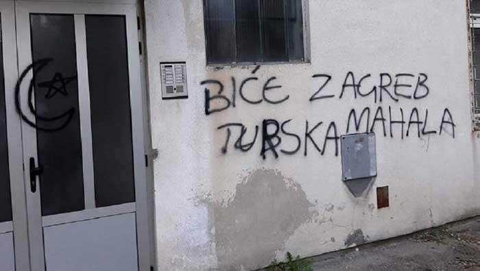 Uvredljivi grafiti i poruke Hrvatima u srednjobosanskom gradiću Vitezu