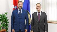 Ministar Banožić s veleposlanikom SR Njemačke Klinkeom