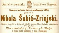 4. studenog 1876. - Praizvedba opere Nikola Šubić Zrinski | Domoljubni portal CM | Kultura