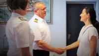 Veleposlanica Švicarske Konfederacije u posjetu Hrvatskoj ratnoj mornarici